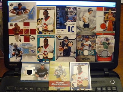 14 Jersey Cards - Mixed Sports