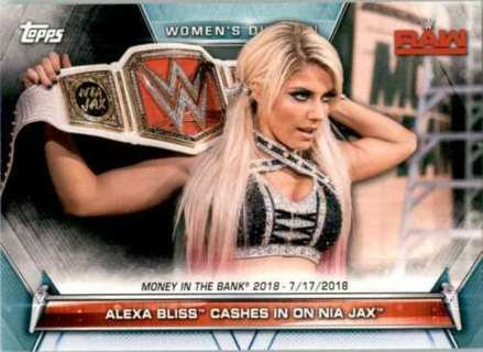 Alexa Bliss 2019 Topps WWE Womens Division Card #79 Money in the Bank Champion