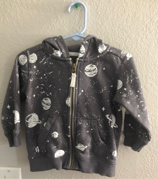 Carter's 2T space light jacket, Excellent Condition