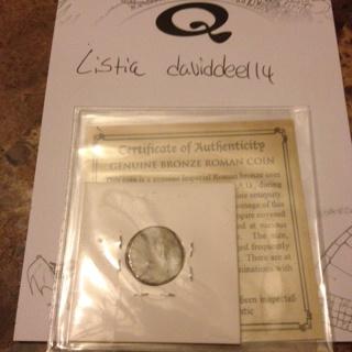 Genuine bronze Roman coin