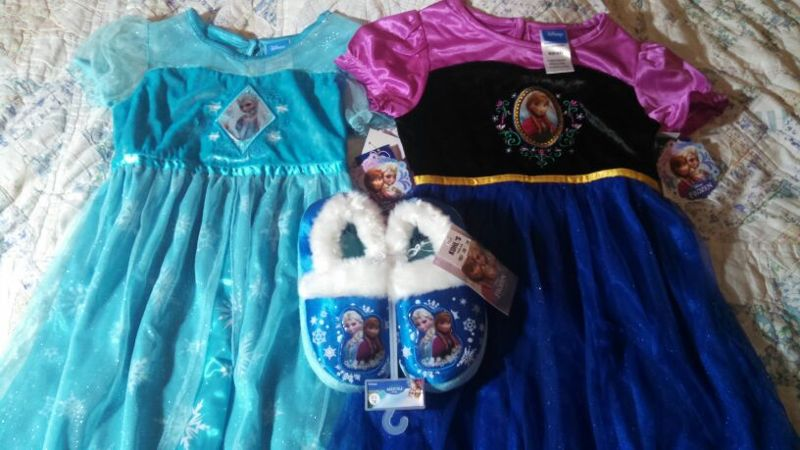 Free: BNWT Disney Frozen Elsa and Anna Nightgowns Sz 6/6x and ...