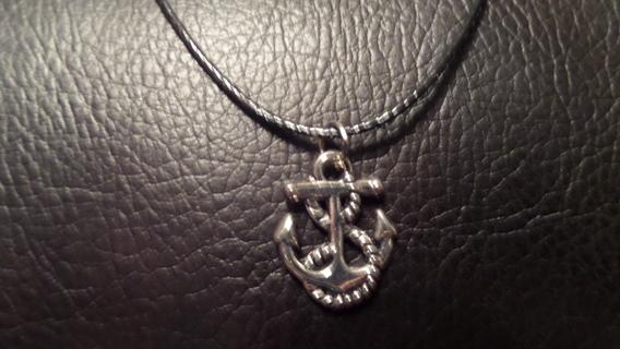 """New! Nautical Tibetan silver anchor necklac, 19"""""""