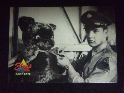 "1992 Elvis Presley ""Army Days"" Trading Card #41"