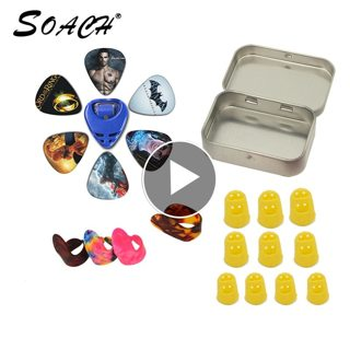 2018 SOACH NEW Tool Kit Guitar set: Celluloid fingers ,Silicone finger sets,Tinplate bo,Dial set