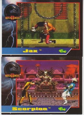 Mortal Kombat 2 Cards 1994 Jax & Scorpion