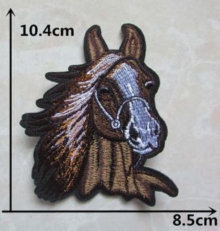 1 NEW IRON ON PATCH MAJESTIC HORSE Applique embroidered FREE SHIPPING