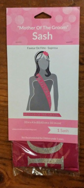 """♥ New """"Mother Of The Groom"""" Sash ♥"""