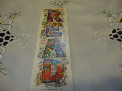 "Colorful ""Read"" Bookmark, dated 1994 ~ Free Shipping"