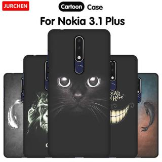 JURCHEN Phone Case For Nokia 3.1 Plus Case Cover Cute Cartoon Silicone Soft Back Cover Nokia3.1 Fo