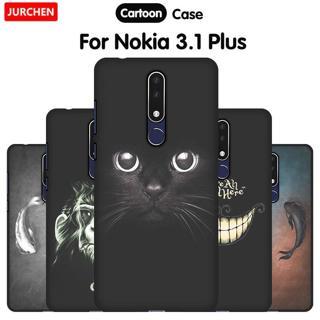 JURCHEN Phone Case For Nokia 3.1 Plus Case Cover Cute Cartoon Silicone Soft Back Cover Nokia3.1 Fo