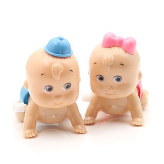 Boy Girl Crawling Crawl Clockwork Doll Wind up Toy For Baby Kids Party Style New