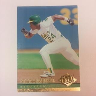 1994 Fleer Ultra #408 Ricky Henderson - Oakland A's