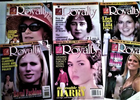 "6 Issues ""Royalty"" Magazine - Vol. 17 (#5, 7, 11) -Vol. 18 (#5, 9 , 10) - 3 1/2 lbs."