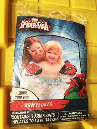 NEW Marvel Ultimate Spider-Man Water Arm Floats INCLUDES Patch Repair Kit FREE SHIPPING