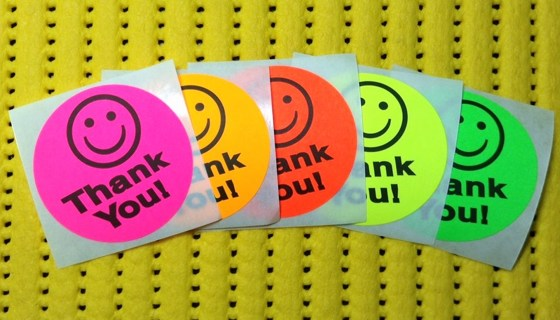 1 Roll of 500 THANK YOU Stickers