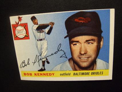 1955 TOPPS BASEBALL CARD NO. 48 - BOB KENNEDY - ORIOLES - PSA WORTHY