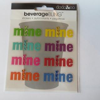 """NEW SET OF 8 """"MINE"""" BEVERAGE BLINGS"""