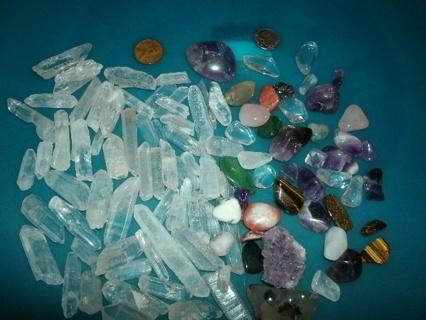 Huge lot of Quartz Crystals and Gemstones