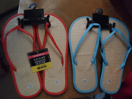 2 NEW PAIRS OF SANDLES [ please read ]