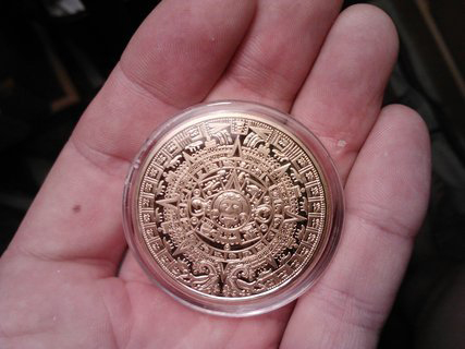 1oz troy ounce gold clad mayan 2012 prophecy coin