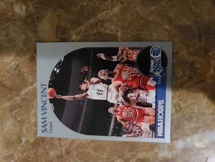 1990 hoops Sam Vincent Michael Jordan card