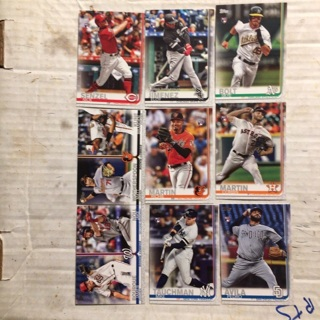 2029 Topps update rookie lot of 9