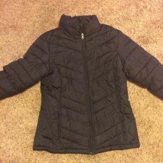 Nice plush black jacket medium