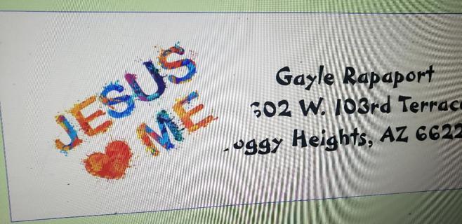 1 sheet address stickers