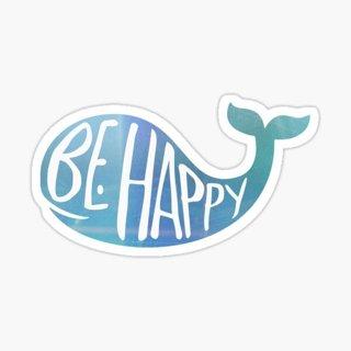 NEW Whale Be Happy MATTE Vinyl Sticker
