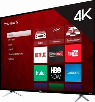 "TCL - 55"" Class (54.6"" Diag.) - LED - 2160p - Smart - 4K Ultra HD TV Roku TV"