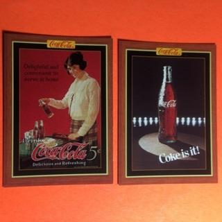 2 Coca Cola 1995 Cards!