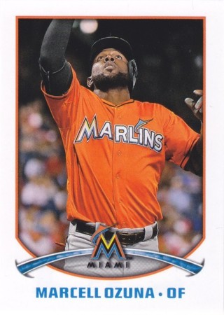 Marcell Ozuna 2015 Topps Stickers Miami Marlins