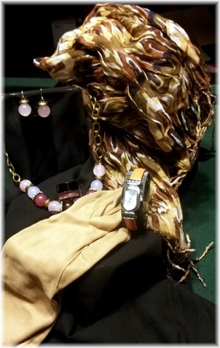 All Inclusive Fall Fashion Accessories Lot--*Watch , Scarf , Necklace , Earrings & Vintage Gloves !