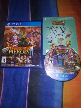 PS4 DRAGON QUEST HEROES 2 EXPLORER'S EDITION...FREE SHIPPING WITH TRACKING...LIKE NEW CONDITION...