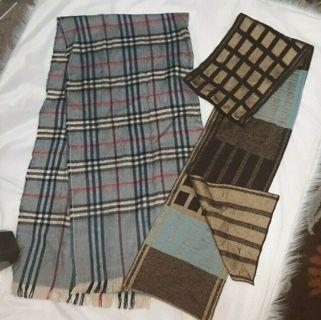 2 Ladies Scarves Scarf Plaid Wrap Neck Head Outer Designer Wool