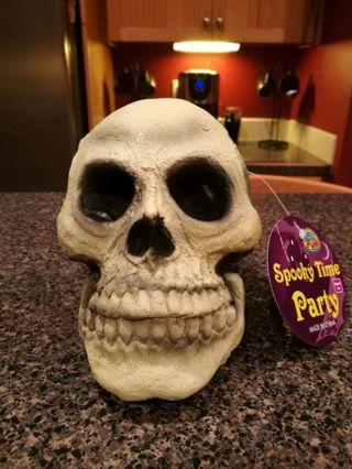 NEW Rubber Skull WHITE