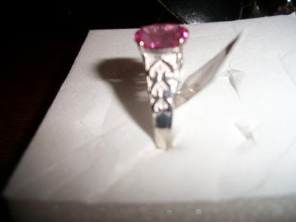 Beautiful simulated pink diamond ring