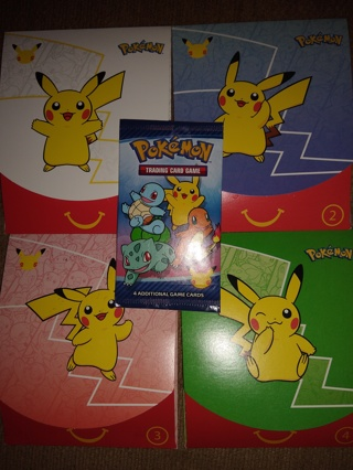 Unopened sealed Mcdonalds 5 packs with outer envelope and goodies Pokemon trading cards
