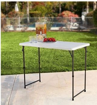 ♥️♥️LAST CHANCE!!♥️♥️♥️75% OFF!♥️~Lifetime Height Adjustable Folding Table, 48 by 24 Inches,