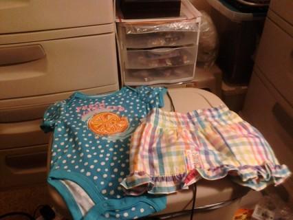 Girls SZ 0/3 Months Outfit BNWT