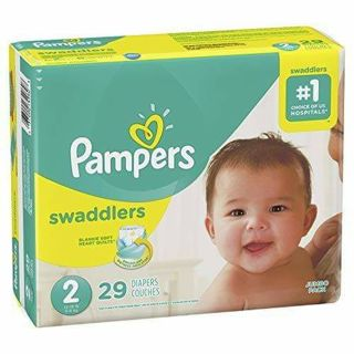 ❤ 29 - PAMPERS SWADDLERS SIZE 2 ~ PACKAGE OF 29~ FACTORY SEALED ❤