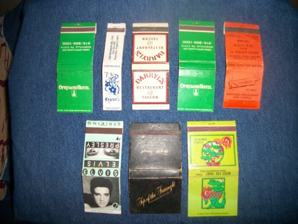 Set of eight collectiblematchbooks -