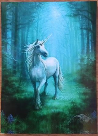 "Majestic Unicorn - 4 x 5"" MAGNET"