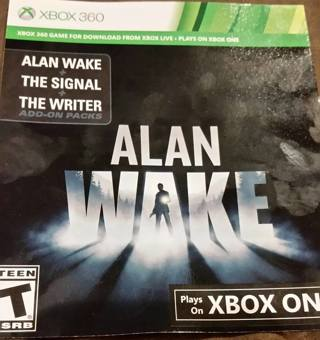 ~Alan Wake Xbox One/XBOX 360  Compatible Digital Download Code~Fast Digital Delivery~