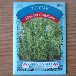 THYME 150mg Herb Seeds 2020 - Free Shipping