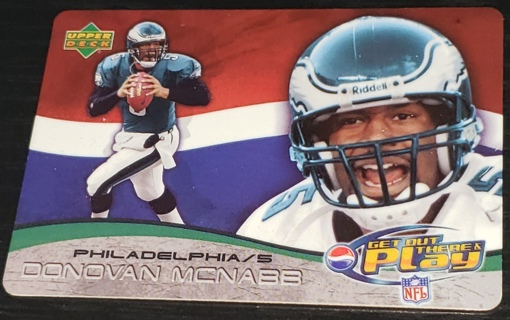2004 ⭐⭐Upper Deck   Donovan McNabb Get Out There and Play Pepsi NFL⭐⭐ Promo