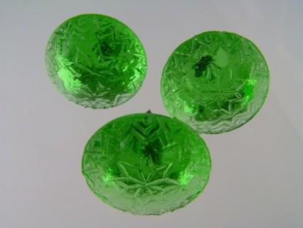 glorious antique green sandwich glass picture rail pins pp-33