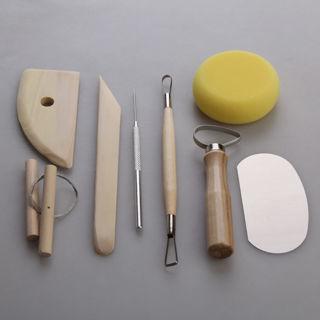 [GIN FOR FREE SHIPPING] 8Pcs Pottery Ceramics Molding Clay Tools