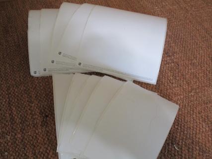 5 LG. & 5 MED Blank Sticker Labels