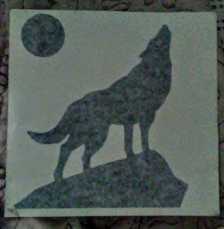Coyote/Wolf BLACK Vinyl Decal
